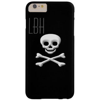 Fun Skull and Crossbone iPhone Cover with Monogram Barely There iPhone 6 Plus Case