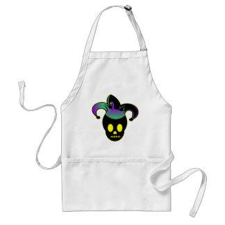Fun Skull Jester Tattoo Adult Apron