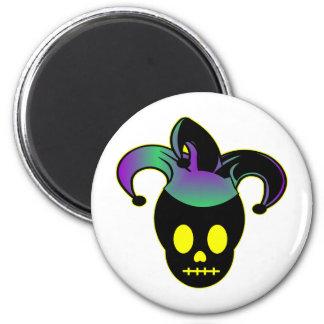 Fun Skull Jester Tattoo Magnet