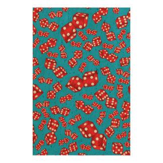 Fun sky blue dice pattern photo cork paper