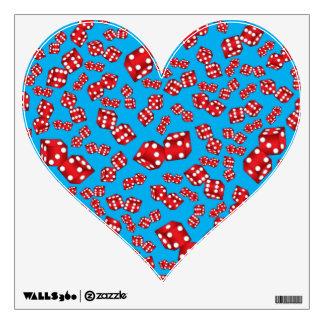 Fun sky blue dice pattern wall skin