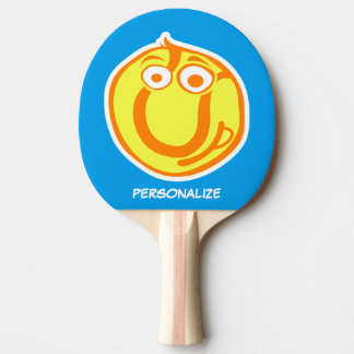 Fun smiley ball ping pong paddle for table tennis