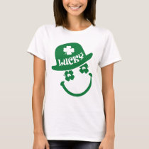 Fun Smiley Face Design St. Patrick's Day T-Shirts