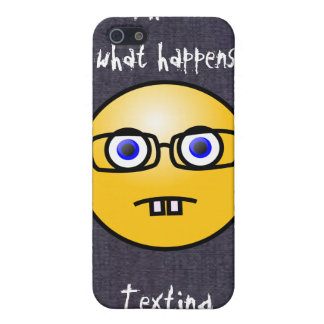 Fun Smiley Face Eye Glasses Case iPhone 4