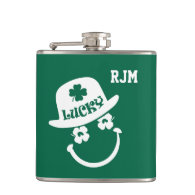 Fun Smiley Face St. Patrick's Day Gift Flasks
