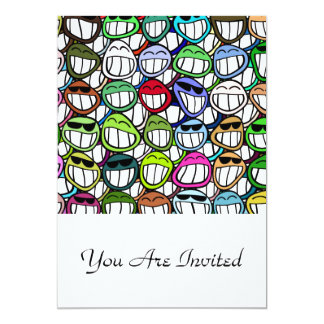 Fun Smiley Faces Pattern Card