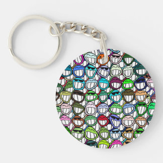 Fun Smiley Faces Pattern Keychain