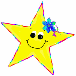 Fun Smiley Star Pin Photo Sculpture