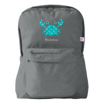 Fun Smiling Aqua Crab Backpack