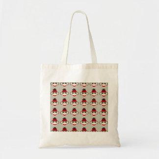 Fun Smiling Red Sock Monkey Happy Patterns Bag