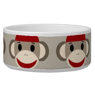 Fun Smiling Red Sock Monkey Happy Patterns Bowl