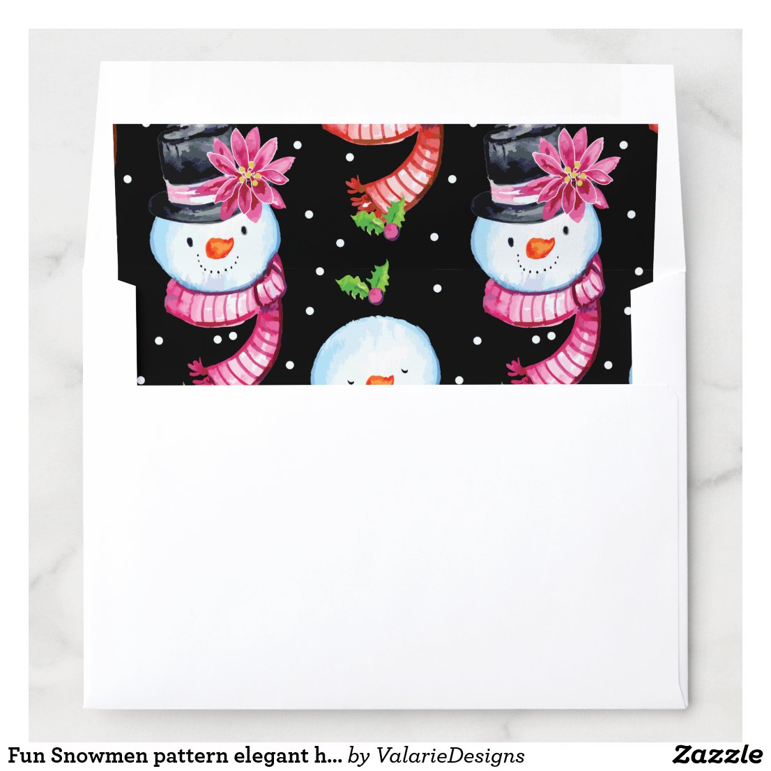 Fun Snowmen pattern elegant holiday