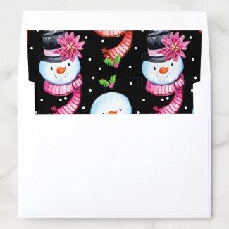 Fun Snowmen pattern elegant holiday