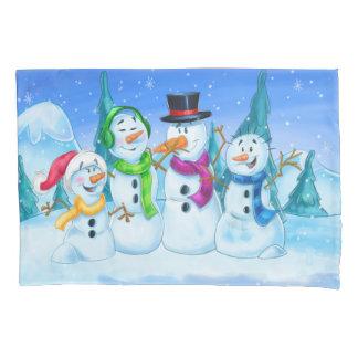 fun snowmen pillowcase