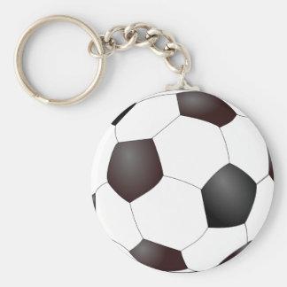 Fun Soccer Ball European Football Graphic Basic Round Button Keychain