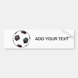 Fun Soccer Ball European Football Graphic Bumper Sticker