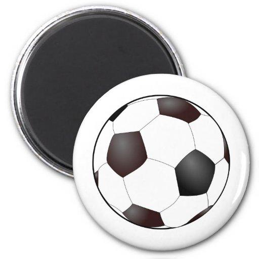 Fun Soccer Ball European Football Graphic Fridge Magnet