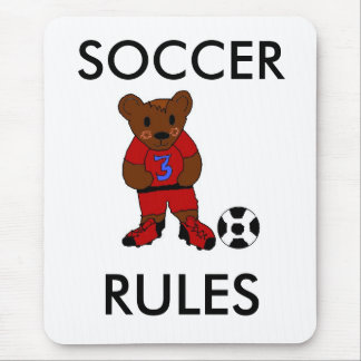 Fun Soccer Rules Mouse Pad