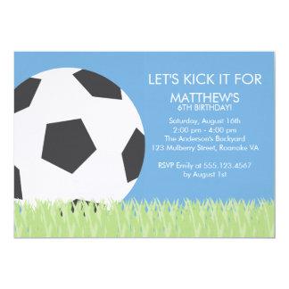 Fun Soccer Themed Birthday Party Card
