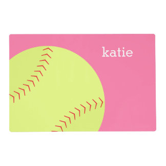 Fun Softball Themed Kids Placemat