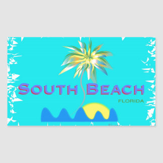 Fun South Beach, Florida Rectangular Sticker