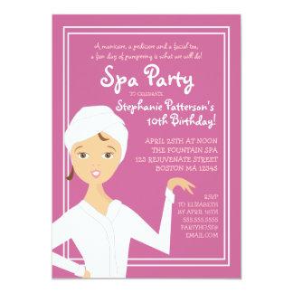 Fun Spa Girl Birthday Spa Party Invitation | Berry