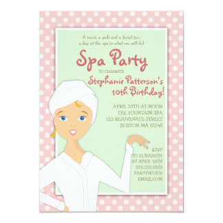 fun spa girl birthday spa party invitation pink - Pamper Party Invitations