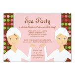 Fun Spa Girl Birthday Spa Party Invitation   Pink