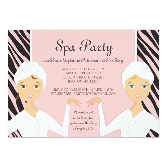 awesome spa party invitation free printable birthday invitations at