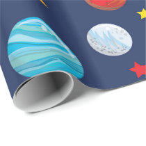 Fun Space party pattern wrap Wrapping Paper