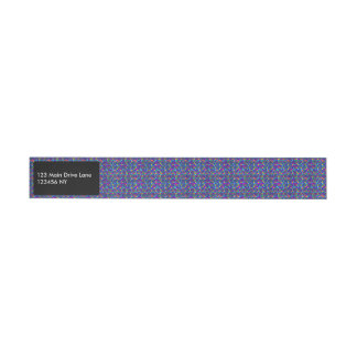 Fun sparkling blue small colorful dots wrap around address label