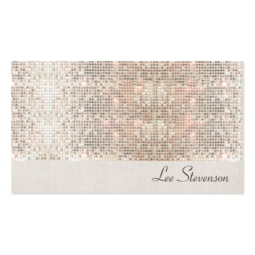 Fun Sparkly Sequins and Soft Linen Look No.2 Business Card