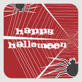 Fun Spider And Web Halloween Party Stickers