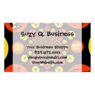 Fun Spooky Halloween Kaleidoscope Pattern Double-Sided Standard Business Cards (Pack Of 100)