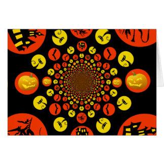 Fun Spooky Halloween Kaleidoscope Pattern Card
