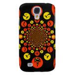 Fun Spooky Halloween Kaleidoscope Pattern Galaxy S4 Case