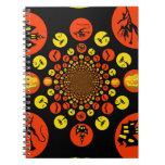 Fun Spooky Halloween Kaleidoscope Pattern Notebook