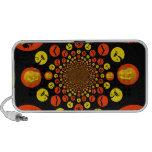 Fun Spooky Halloween Kaleidoscope Pattern iPod Speakers