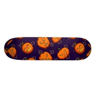 Fun Spooky Halloween Pumpkins on Midnight Blue Skateboard Deck
