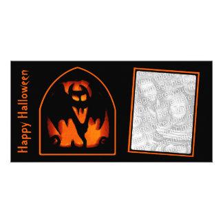 Fun, Spooky Halloween Vampire Bat Pumpkin Photo Cards