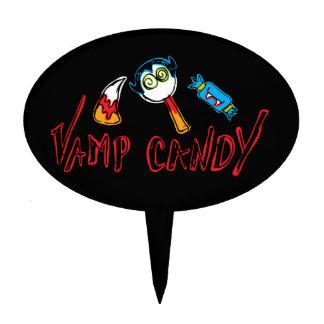 Fun & Spooky Vamp Candy Cake Topper