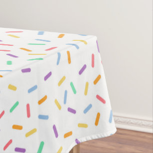 Bon Fun Sprinkles Party Tiled Tablecloth