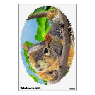 Fun Squirrel in Tree Wall Decal