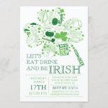 Fun St. Patrick's Day Bash Dinner Party Invitation