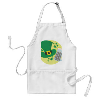 Fun St Patricks Day Beer Design Adult Apron