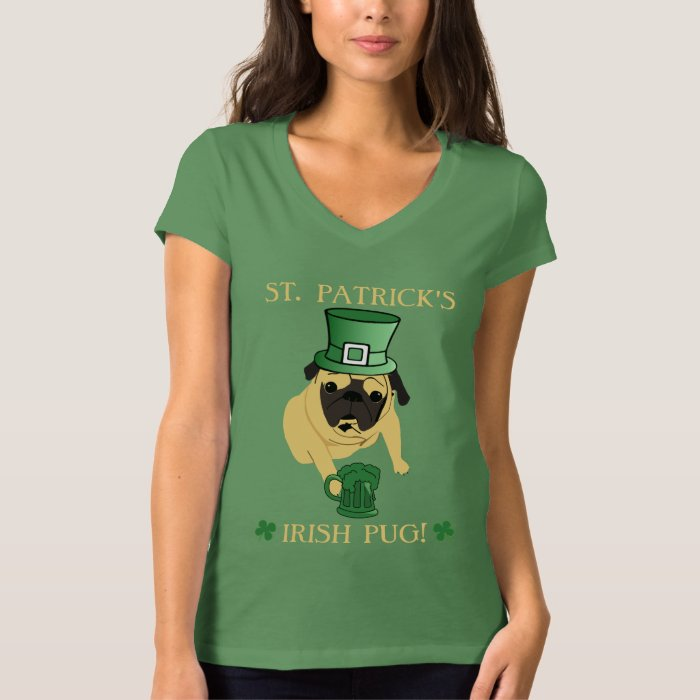 Fun St. Patrick's Irish Pug Tee
