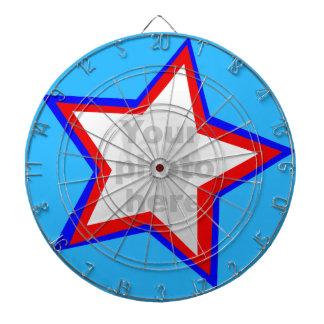 Fun star red & blue add your own photo dart board