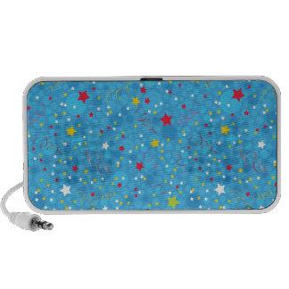 fun stars and sparkles pattern travel speaker