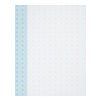 Fun Stars in Blue & Gold Letterhead