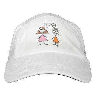 Fun Stick Figure Girlfriends Gossiping Design Hat